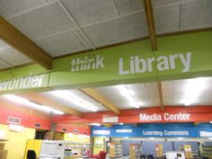 Lakeview Elementary Media Center - Phase 1 in renovation: decals, almost 100 words