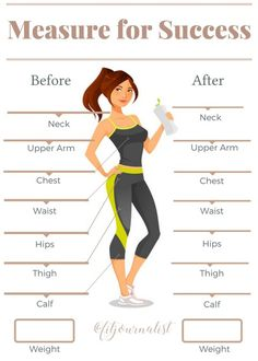beachbody measurement tracker chart | Measurements Tracker ...
