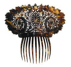 Hair Comb: ca. 1812, French for the Spanish Market, tortoiseshell.