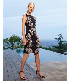 Antonio Melani Crane Embroidered Dress
