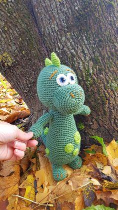 Boy Nursery Dinosaur themed Crochet Dino Knitted Dinosaur