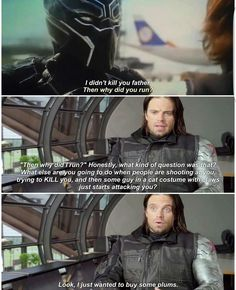 Why couldn't he just let Bucky eat his plums in peace!!