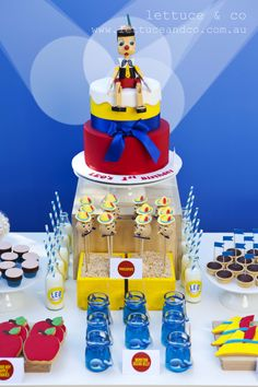 LETTUCE & CO - STYLE. EAT. PLAY 'pinocchio', children's themed party, dessert table