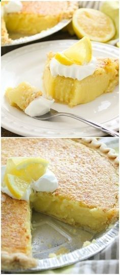 Throw everything in the blender pour it into the cr - Blender - Ideas of Blender - Arizona Sunshine Lemon Pie! Throw everything in the blender pour it into the crust and you have pie in less than an hour! 13 Desserts, Lemon Desserts, Lemon Recipes, Sweet Recipes, Delicious Desserts, Dessert Recipes, Yummy Food, Meyer Lemon Pie Recipe, Best Lemon Pie Recipe