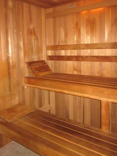 cedar sauna at Spa Prunifolia Riley Gardens , GA Hot Tub Room, Garden Lodge, Callaway Gardens, Pine Mountain, Best Pictures Ever, Steam Bath, My Ideal Home, Best Cleaning Products, Home Projects
