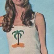 Palm Tree Tank Top Vintage Knitting
