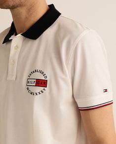 Tommy Hilfiger, Polo Logo, Moda Online, White Style, Mens Clothing Styles, Embroidery Designs, Polo Ralph Lauren, Fashion Outfits, Mens Tops