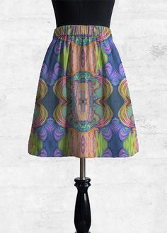 Cupro Skirt - Vienna in Rainbow by VIDA Original Artist Signature Design, Fashion Labels, Vienna, A Line Skirts, Clothing, How To Wear, Outfits, Outfit Posts, Kleding