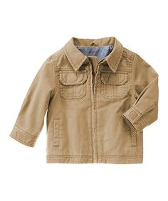 Love this Classic Khaki Zip-Up Jacket - Infant, Toddler & Boys on #zulily! #zulilyfinds