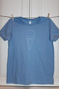 Children's ScreenPrinted Ice Cream Cone T-Shirt by ThisLittlePiggyNWA, $22.00