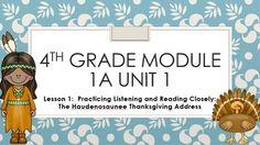 2014 ELA Module 1A Lesson 1 Engage NY 4th grade Free lesson