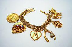 Vintage Charm Bracelet by VinChic on Etsy