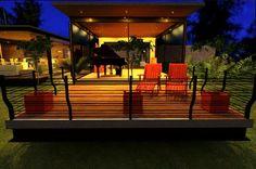 Vista nocturna- Terraza del estudio Casa C+C Deck, Outdoor Decor, Home Decor, Houses, Nocturne, Terrace, Studio, Decoration Home, Room Decor