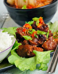 Spicy Grilled Boneless Pork Spare Ribs @SECooking | Sandra #recipes #koreanfood