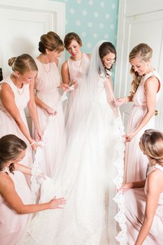 Blush Bridesmaid Dresses. A Classic Country Club of Virginia Wedding in Richmond Virginia.