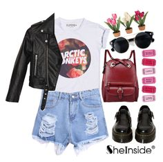 """#Arctic Monkeys – She's Thunderstorms"" by credentovideos ❤ liked on Polyvore featuring Nasty Gal, Dr. Martens and Chicnova Fashion"
