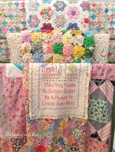 Vintage Quilt Tops  www.bloominginchintz.blogspot.com