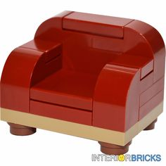 LEGO® Furniture Set: Large Arm Chair in Dark Red   [minifigure,creator,kit,home] #LEGO