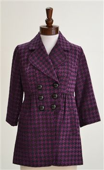 Mac & Jac  Houndstooth Checkered Coat
