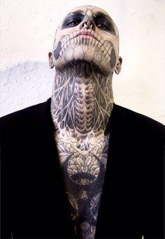 Skull, neck, tattoo, skeleton, men