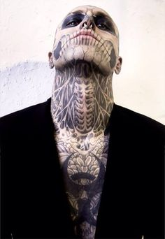 Skull, neck, tattoo, skeleton, men