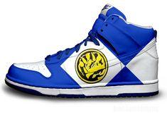 Blue Power Ranger Nike Dunks by becauseimjay.deviantart.com on @deviantART