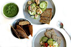 shrimp #ceviche in avocado bowls with aguachile and homemade tortilla chips