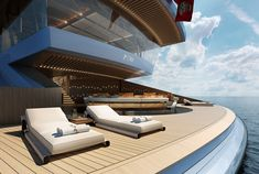 Mega yacht Zen is the most impressive yacht design in the world, Her Amazing interior design is out of this world . 80 meter megayacht ZEN creates a new typo. Yacht Design, Boat Design, Super Yachts, Jon Boats For Sale, Barge Boat, Luxury Yacht Interior, Party Barge, Whitewater Kayaking, Yacht Boat
