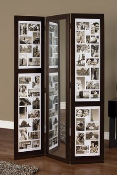 Photo Room Divider - excellent idea!