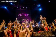 Um ano de show do Hanson no Brasil! Saudade define! #voltahanson #hansonbrasil