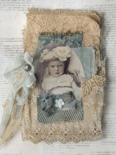Mixed Media Fabric Collage Book of Little French Babes | eBay
