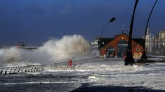 Blackpool battered by waves during tidal surge