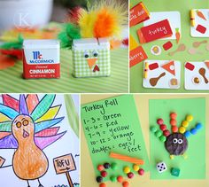 Best Kids turkey crafts for thanksgiving. Teach your kids to give thanks and be thankful in creative ways this Fall (Autumn). Make easy thanksgiving crafts Fall Crafts, Holiday Crafts, Holiday Fun, Crafts For Kids, Kids Diy, Holiday Ideas, Decor Crafts, Holiday Activities, Craft Activities