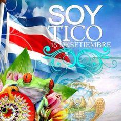 """15 de setiembre día que celebramos la Independencia """"Que Viva Costa Rica"""""""