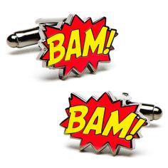 BAM! CUFFLINKS by Cufflinksman.com