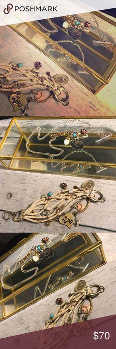 🛍SALE🎊✨🆕Juicy Couture charm necklace & bracelet NEVER WORN!! Juicy Couture charm necklace org $145 & charm rope bracelet org $95 Juicy Couture Jewelry
