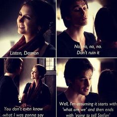 I don't ship Delena. I don't like them together or her this entire season pretty much. I in this scene I loved her hair, it's always straight and boring and her it was different.
