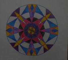 Kleurige mandala van mij zelf.
