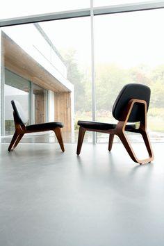 Lounge chair - MoonLounger by Gerd Couckhuyt - Belgian design - Wildspirit Design Furniture, Chair Design, Wood Furniture, Modern Furniture, Cheap Furniture, Interior Architecture, Interior Design, Windows Architecture, Design Interiors