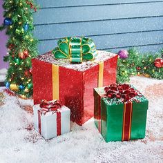 Stackable Gift Box Outdoor Christmas Decoration