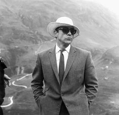 Sean Connery during Goldfinger filming (circa 1964)  #ConneryDay