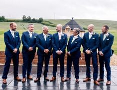 Gorgeous Mint Green on dapper groomsmen!