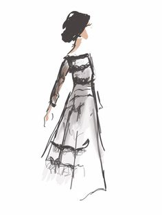 NARCES by Stephanie McKay Curated.Works: World MasterCard Fashion Week F/W 2014 LIVE Runway Sketches (Day 5)