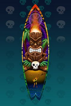 Tiki Art | Tiki Stick by *burningman on deviantART