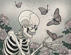 Skull Art by Tina Menzel ☠️ Photo Wall Collage, Collage Art, Art Sketches, Art Drawings, Skeleton Art, Hippie Art, Aesthetic Art, Oeuvre D'art, Dark Art