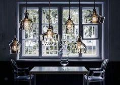 Pendant lamp / contemporary / glass / transparent LONGIS I Kaspa Verre Design, Commercial Lighting, Interior Decorating, Interior Design, Home Living, Pendant Lamp, Retro Vintage, Chandelier, Relax