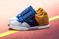 Lacoste x Snkr Frkr Missouri 'Friends & Family' Edition Ok, so these are seriously cool sneakers. Premiered early last week, the Friends & Family edition is its revamped tennis sneaker that gives a. Lacoste Sneakers, Best Sneakers, Sneakers Fashion, Men's Shoes, Shoe Boots, Shoes Sneakers, Golf Shoes, La Mode Masculine, Oldschool