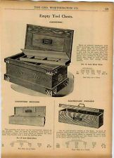 1922 Ad C E Jennings Wood Wooden Tool Chests Carpenters' Jewelers Machinists'