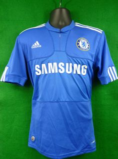 Chelsea FC Adidas Home Shirt 2009-2010 Season Size Adult Small CFC Collectable