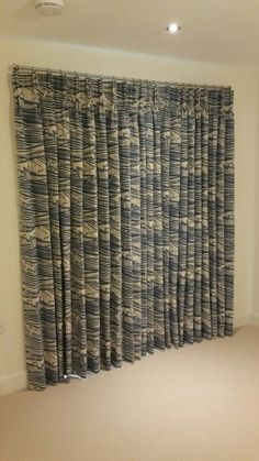 Beautiful mini moderns whitby fabric as bedroom curtains
